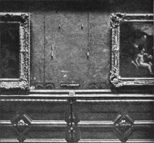 La Mona Lisa robada en 1911 del Museo del Louvre