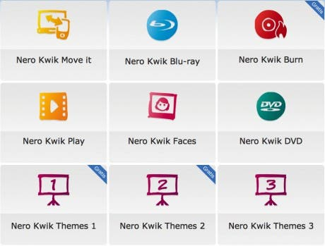 Nero Kwik Media apps