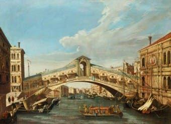 Ponte di Rialto, por Canaletto