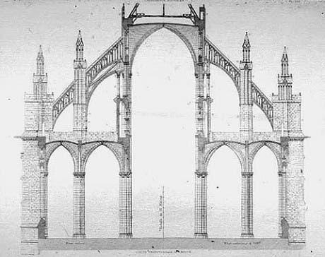 Sección de una catedral gótica