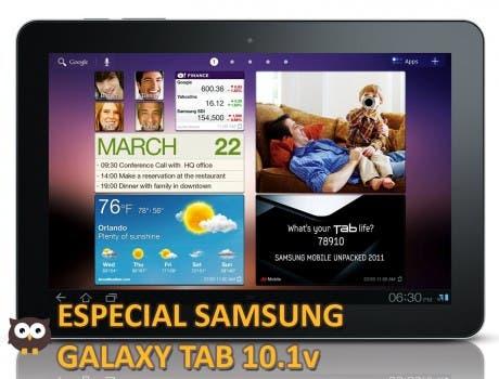Especial Samsung Galaxy Tab 10.1v: Especificaciones y precios
