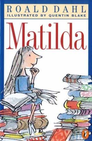 Matilda, portada del libro de Roald Dahl