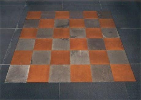 """""""Plano de cobre y magnesio"""" (1969), Carl Andre"""