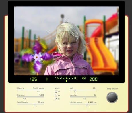 Simulador de fotografías online