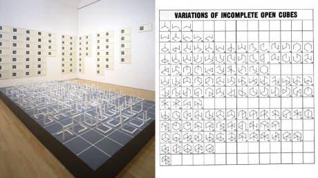 "Sol Lewitt, ""Variaciones de cubos incompletos"""