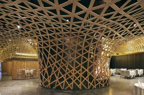 Celosías de Bambú: Tang Palace de Atelier FCJZ