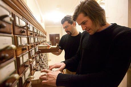 Dos de los investigadores del proyecto