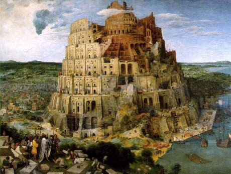 La Torre de Babel, pintura al óleo sobre lienzo de Pieter Brueghel el Viejo