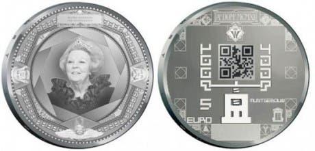 nuevos diseños de monedas de euro holandesas con códigos QR