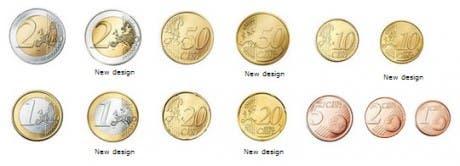 caras comunes de monedas de euro