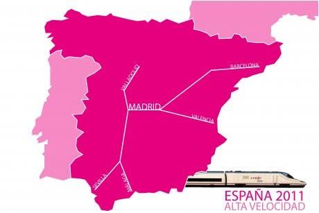 Líneas de ferrocarril de Alta Velocidad en España (2011)