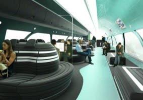 Interior del concepto de tren de alta velocidad australiano A-HSV