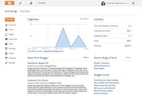 Prueba Google Blogs, la nueva interfaz de Blogger