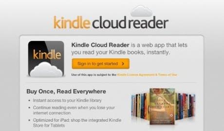 Amazon presenta Kindle Cloud Reader