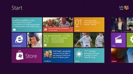 Captura de la interfaz Metro de Windows 8
