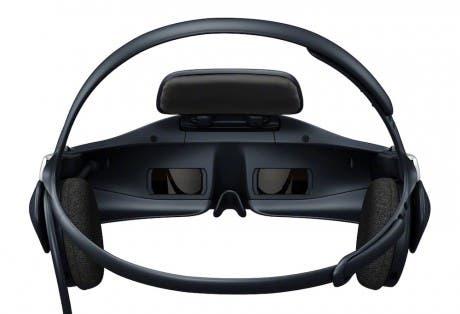 Vista interior del headset 3D HMZ-T1