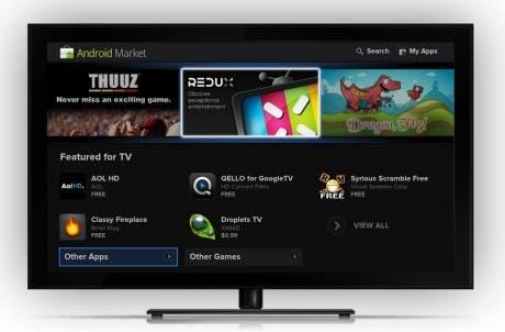Captura del Android Market de Google TV