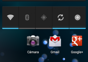Pantalla principal del Android 4.0.3 en Google Nexus tras aplicar la actualización.