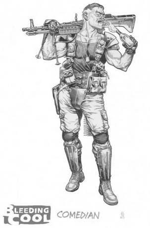 Boceto de El Comediante de J.G. Jones