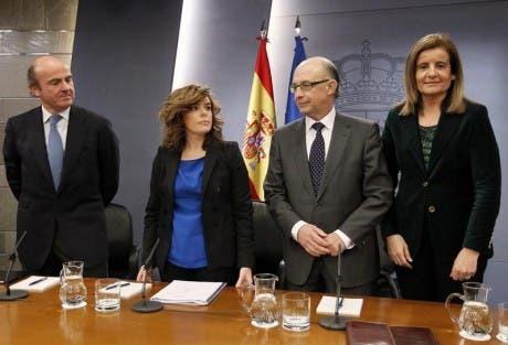 Soraya Sáenz de Santamaría, vicepresidenta y portavoz del Gobierno de Mariano Rajoy