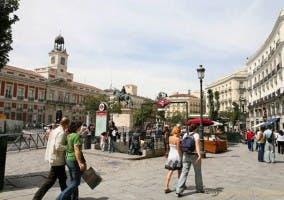 Puerta del Sol con baldosas y pavimento inteligente