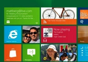 Captura del escritorio estilo Metro de Windows 8
