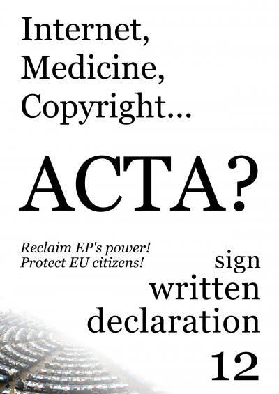 España firma el tratado ACTA