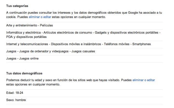 Datos Personales Google
