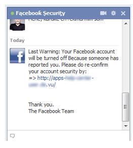 Chat Facebook atacado
