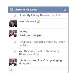 servicio de música para compartir en Facebook