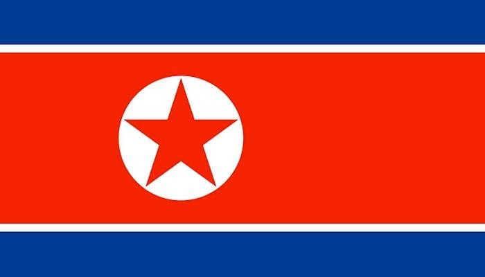 Representación de la bandera de Corea del Norte
