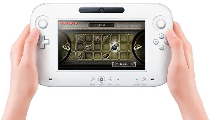 Fotografía del mando-tablet de la Wii U