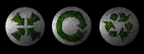 Imagen con tres logos que representan los conceptos de reducir, reutilizar y reciclar