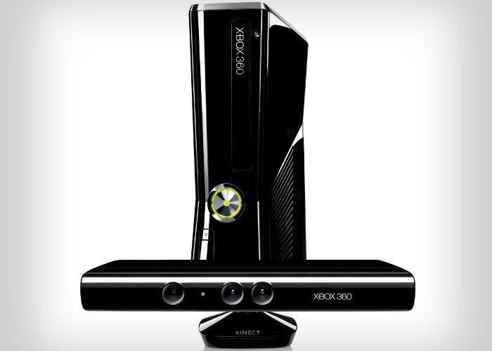 Imagen de una videoconsola Xbox 360 de Microsoft con Kinect