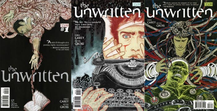 The Unwritten covers