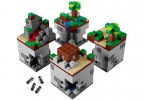 Fotografía del set de LEGO oficial de Minecraft