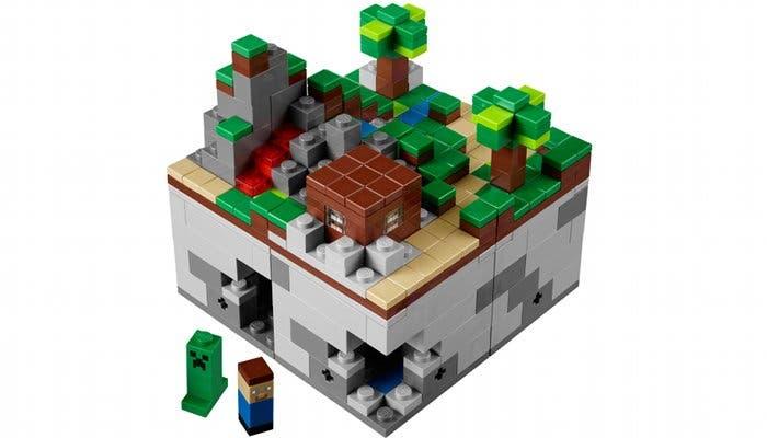 Fotografía del LEGO oficial de Minecraft