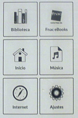 Menu del eBook de Fnac