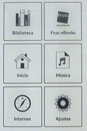 Menu del eBook de Fnac