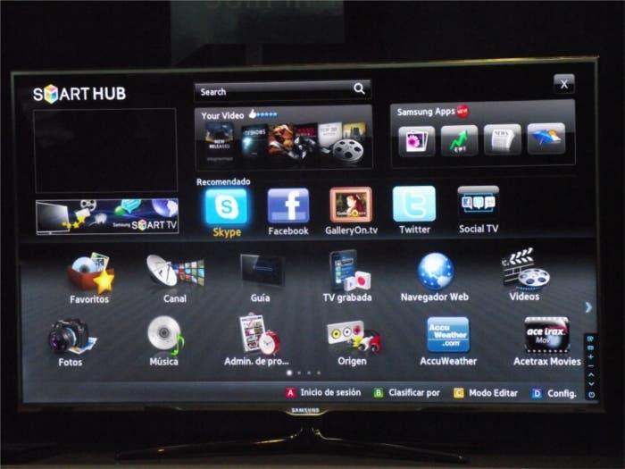 Smart Hub, menú de Smart TV