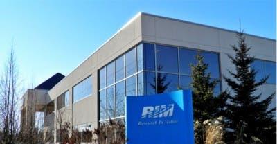 Logotipo de RIM en las oficinas principales