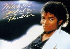 Michael Jackson en la portada de Thriller
