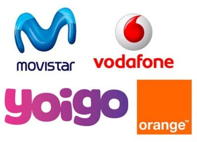 Logos de Movistar, Vodafone, Yoigo y Orange