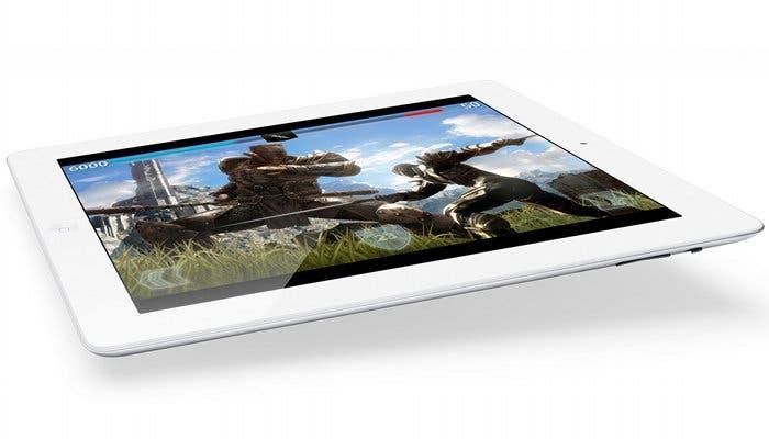 Nuevo iPad ejecutando el juego Infinity Blade