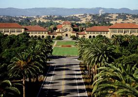 Plano aéreo de la Universidad de Stanford