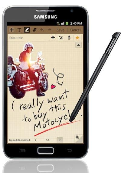 Fotografía de un Samsung Galaxy Note