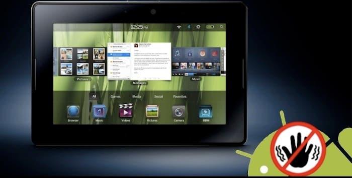 Fotografía de una BlackBerry PlayBook