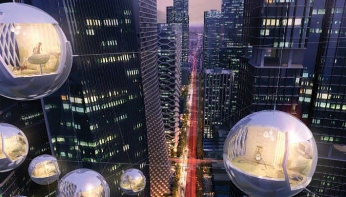 Esferas colgantes de altura