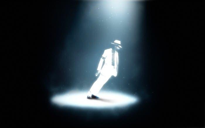 Michael Jackson en su truco de inclinación
