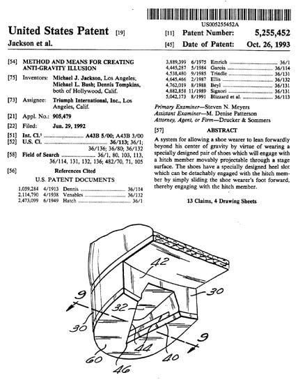 Patente del método de inclinación de Michael Jackson